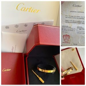 Cartier Love Bracelet 18k yellow gold sz 17